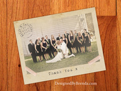 Vintage Typewriter Wedding Thank You Postcards