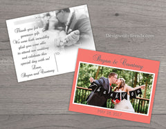 Simple Wedding Thank You Postcards