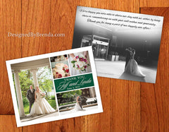 Color Block Wedding Thank You Postcards