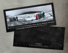 Holiday Christmas Card with Panoramic Photo on Chalkboard Background - Unique Design