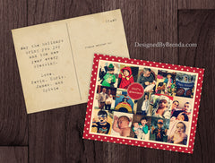 Vintage Style Holiday Postcard with Many Photos - Great for Social Media Pictures, Year in Review