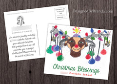 Custom Holiday Card with Your Child's Original Christmas Artwork