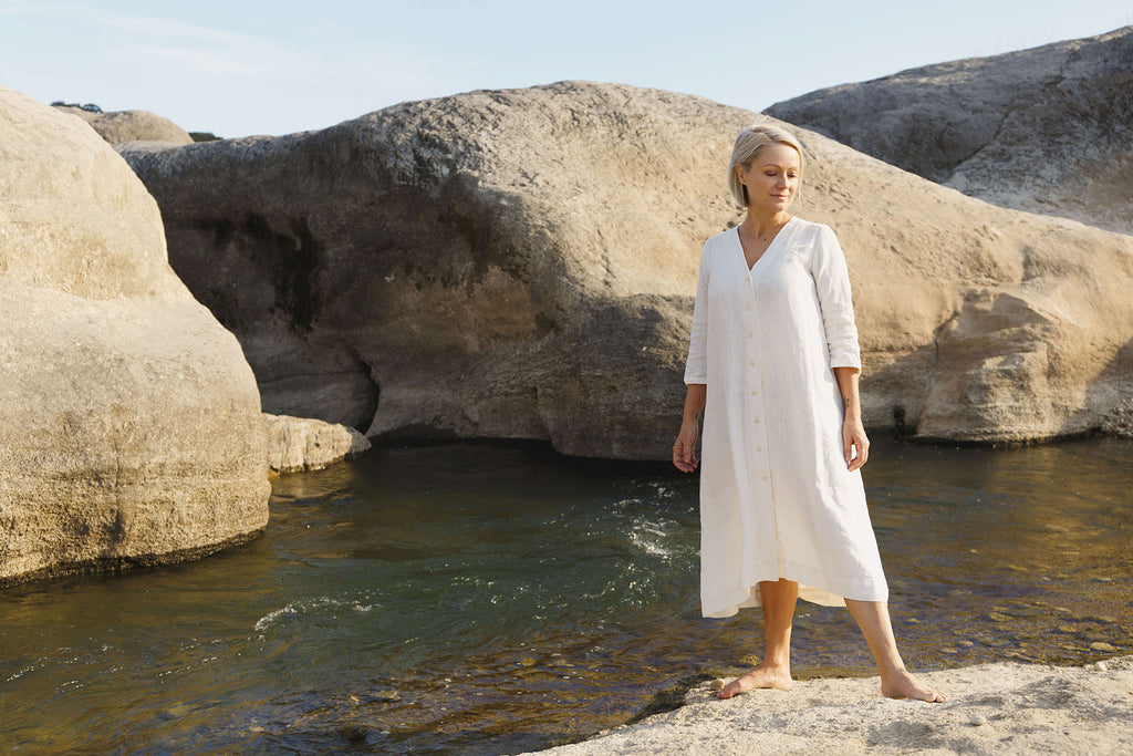Together Segal White Sienna Dress in Pedernales Falls