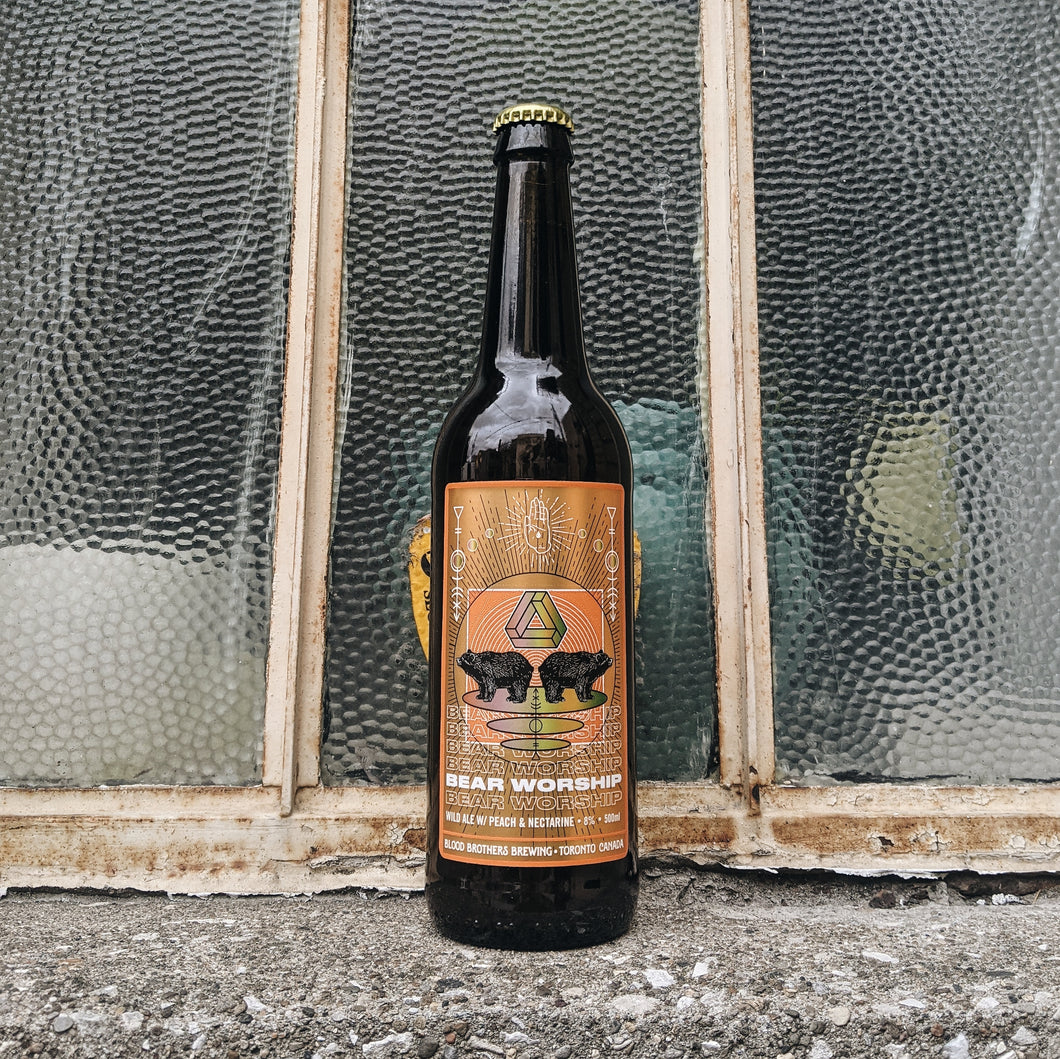 Blood Brothers Bear Worship Wild Ale w/ Peach & Nectarine