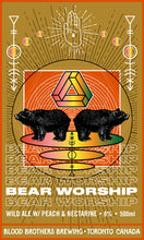 Load image into Gallery viewer, Blood Brothers Bear Worship Wild Ale w/ Peach & Nectarine