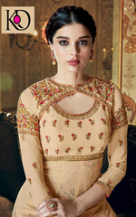 TRADITIONAL COLLECTION WEDDING WEAR DULL SANTOON  ANARKALI DRESS
