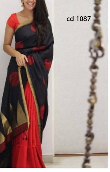 TRADITIONAL WEDDING WEAR SOFT SILK SAREE WITH BLOUS