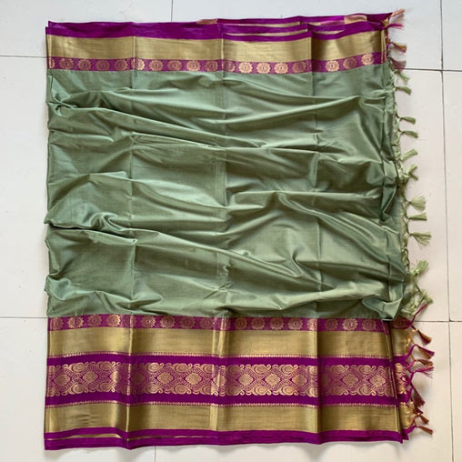 Didi Pista Graceful Soft Cotton Silk Saree With Blouse Piece ( Roshni-Pista )