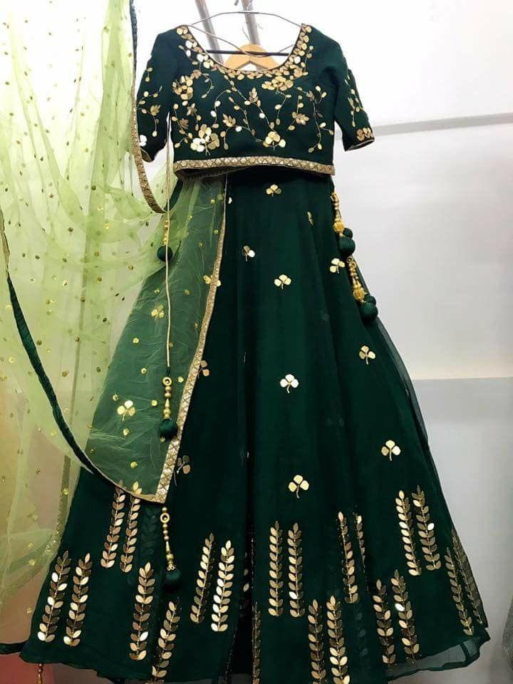 Didi Green Fabulous Semi-Stitched Lehenga Choli With Dupatta (SF-122)