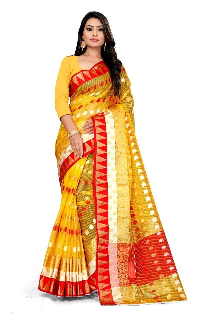 New designer kora silk saree with boluse piece