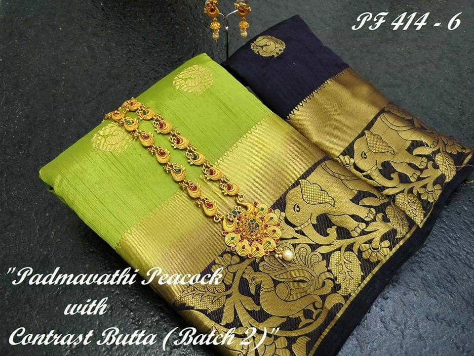 New Designer soft silk saree with blouse piece