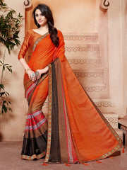 RANGOLI GEORGET WITH FANCY  BORDER SAREE