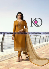 BEAUTIFUL EMBROIDERED WORK DESIGNER  YELLOW COLOUR DRESS