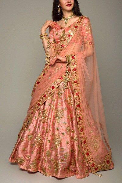 Didi Peach Exclusive Semi-Stitched Lehenga Choli With Dupatta (SR-202)
