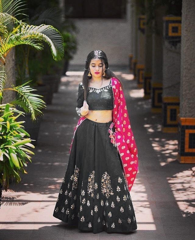 Didi Grey & Pink Wonderful Lehenga Choli With Dupatta (SF-153)