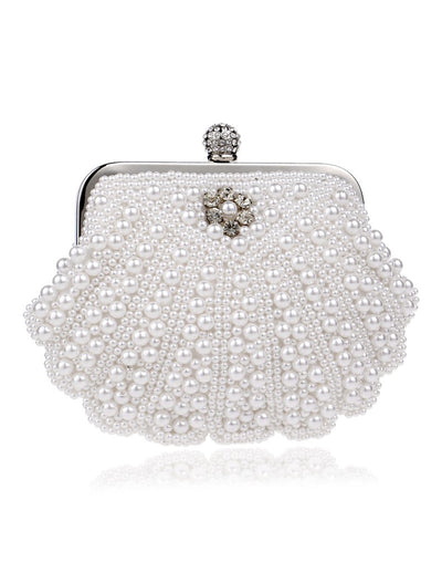 The Shell with Pearl Hand Evening Bag for Women and Girls