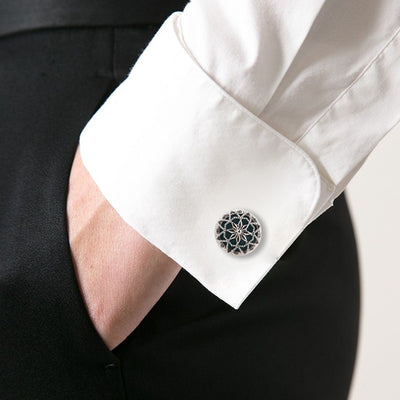 Engraved Enamel Cufflinks
