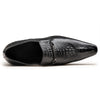 G.T Men's Croc Embossed Leather Loafers
