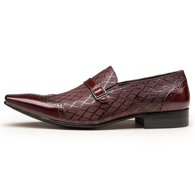 G.T Men's Popular Embossed Leather Loafers