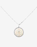 Sterling Silver Floral Pendant Necklace