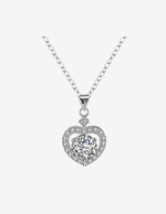 Sterling Silver Love Charm Pendant Necklace
