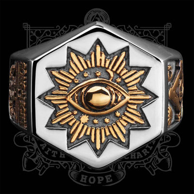 Men's Sun Devil Eyes Ring