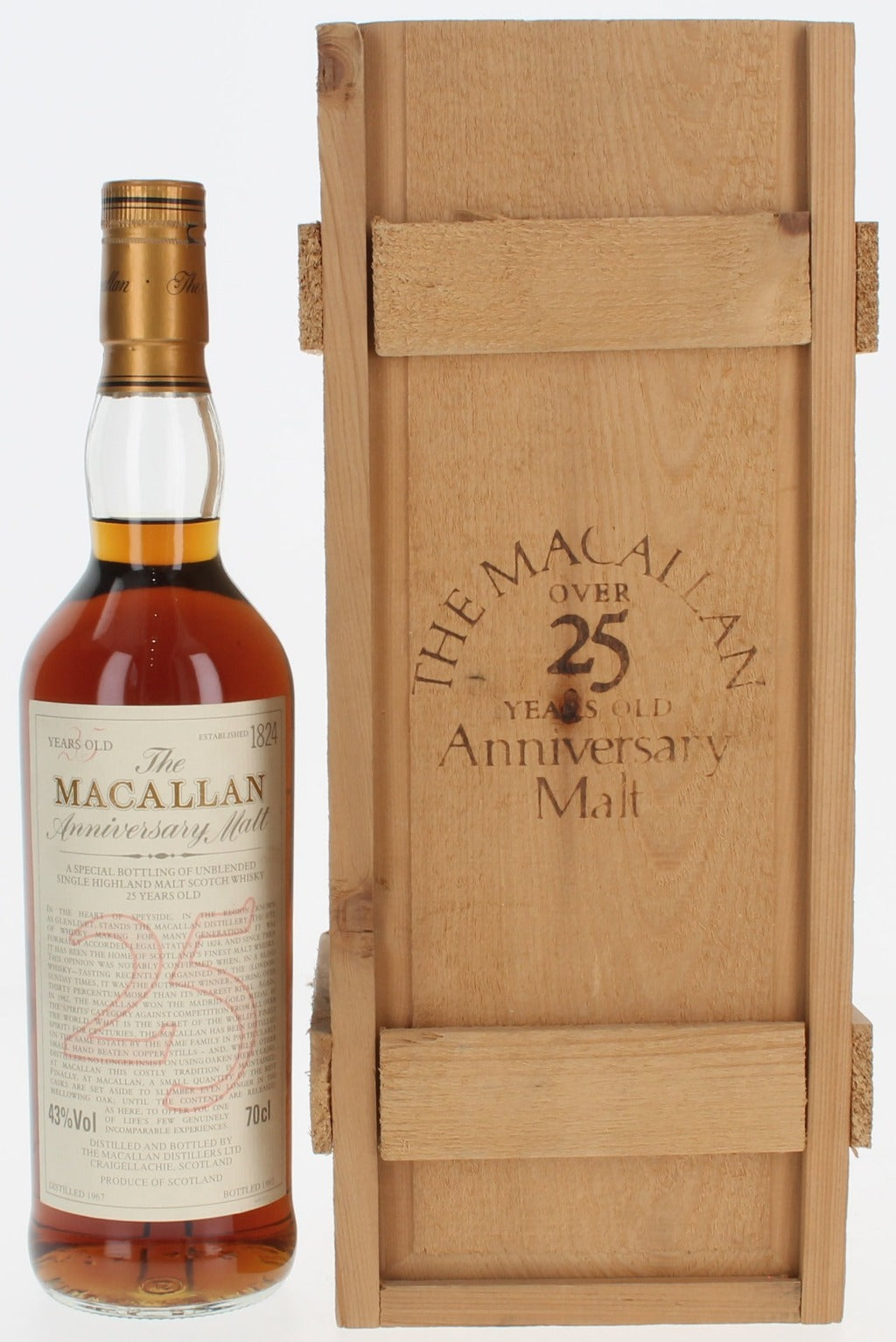 Macallan 25 Year Old 1967 - 1992 - 70cl 43%