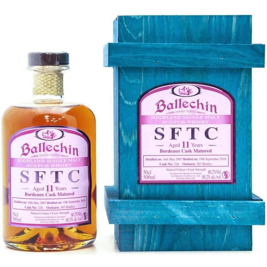 Ballechin 2007 Straight From The Cask Bordeaux Matured - 50cl 60.2%