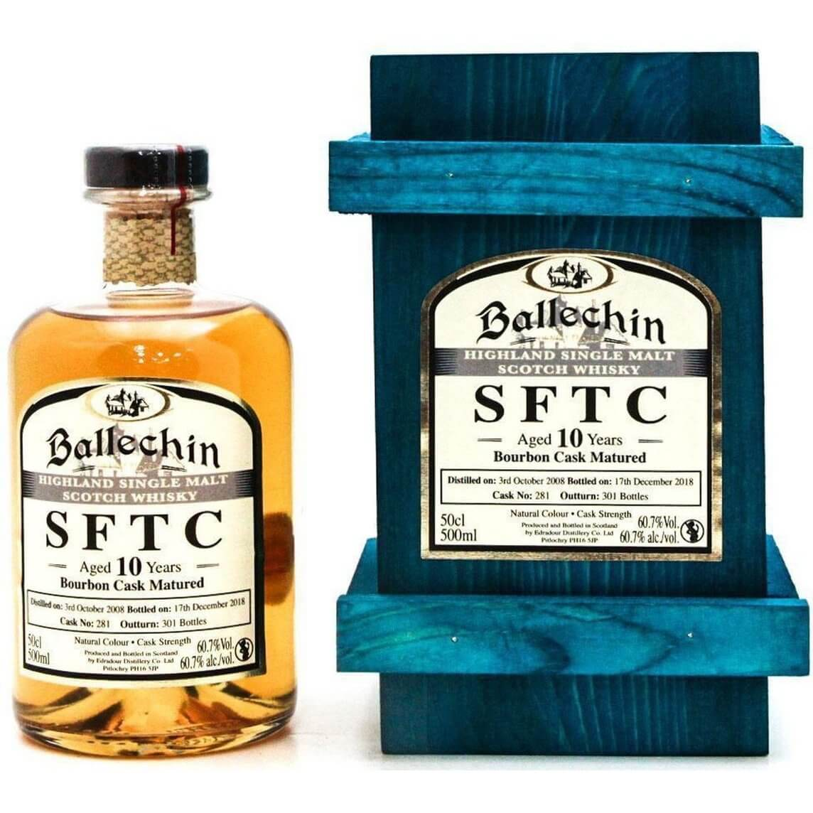 Ballechin 2008 10 Year Old Straight From The Cask Single Malt Whisky - 50cl 60.7%