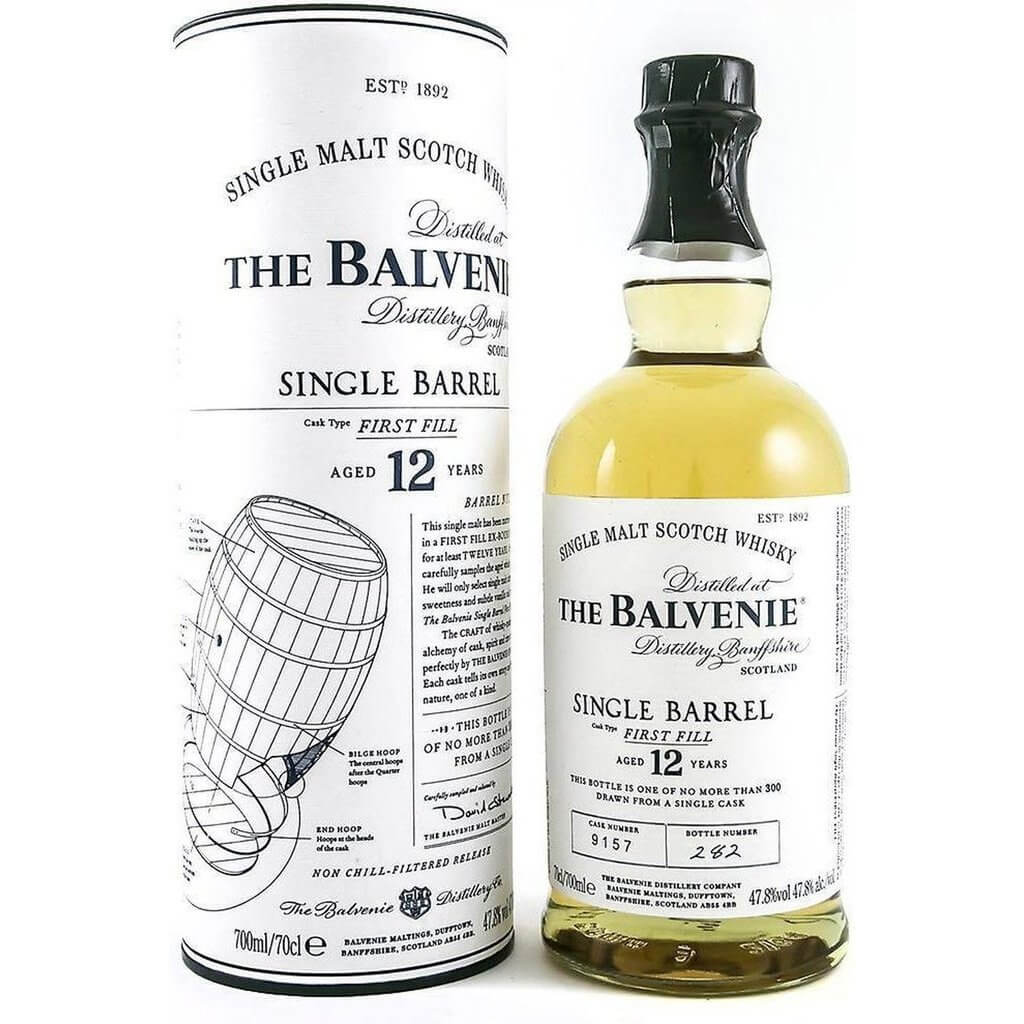 Balvenie 12 Year Old Single Barrel First Fill Whisky -70cl 47.8%
