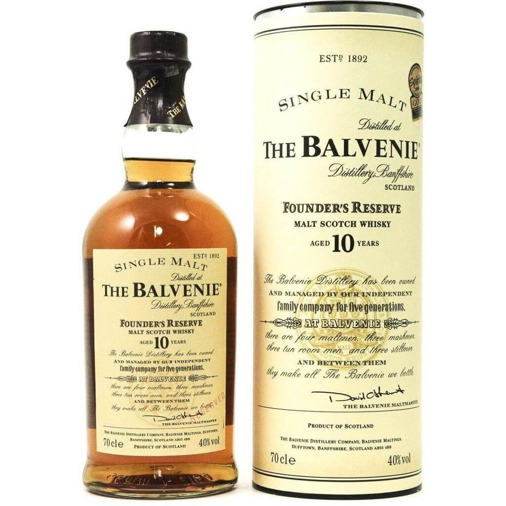 Balvenie 10 Year Old Founders Reserve Whisky