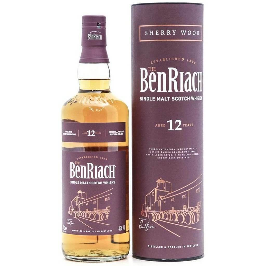 BenRiach 12 Year Old Sherry Wood - 70cl 46%