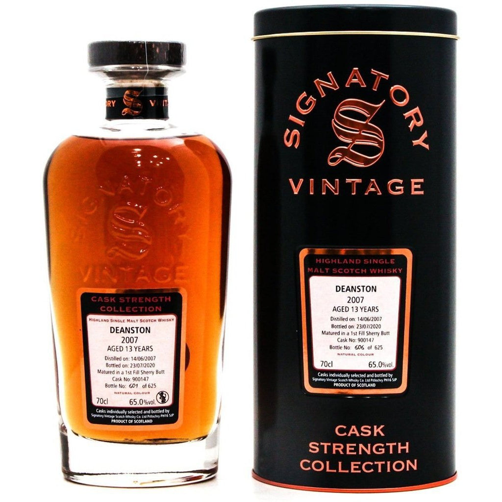 Deanstone 2007 13 Year Old Signatory Vintage - 70cl 65%