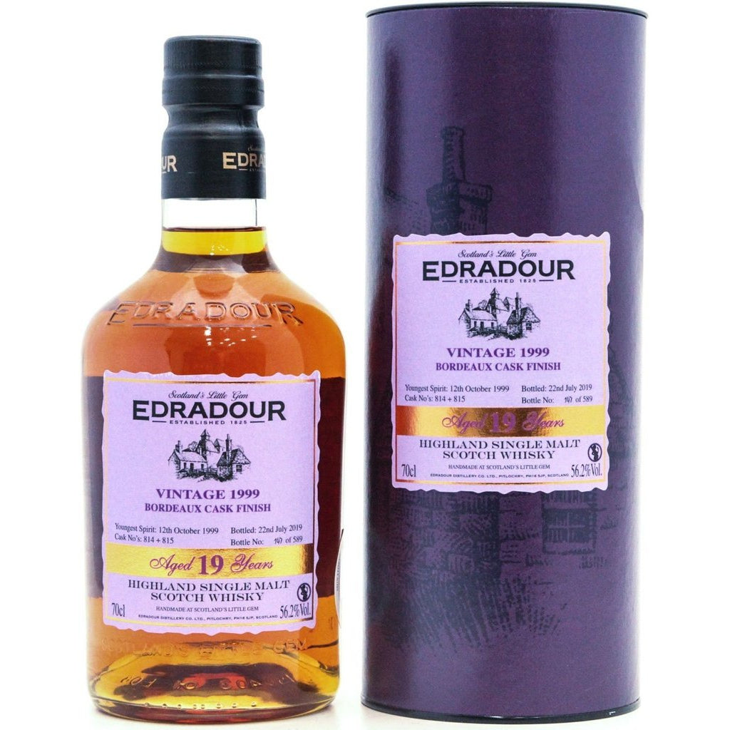 Edradour 1999 Bordeaux Finish 19 Year Old Small Batch - 70cl 56.2%