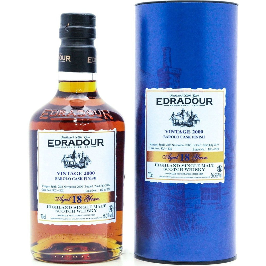 Edradour 2000 Barolo Finish 18 Year Old - 70cl 56.5%