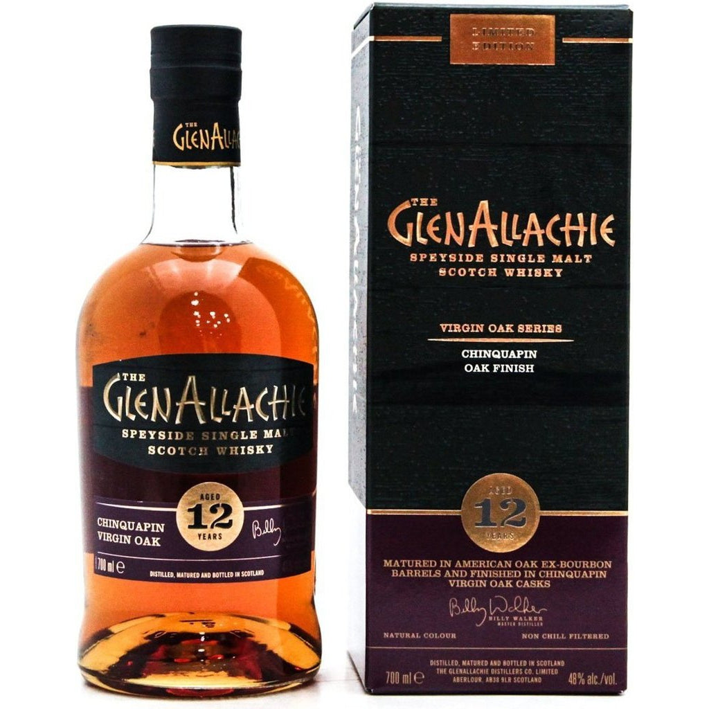 GlenAllachie 12 Year Old Chinquapin Wood Finish - 70cl 48%