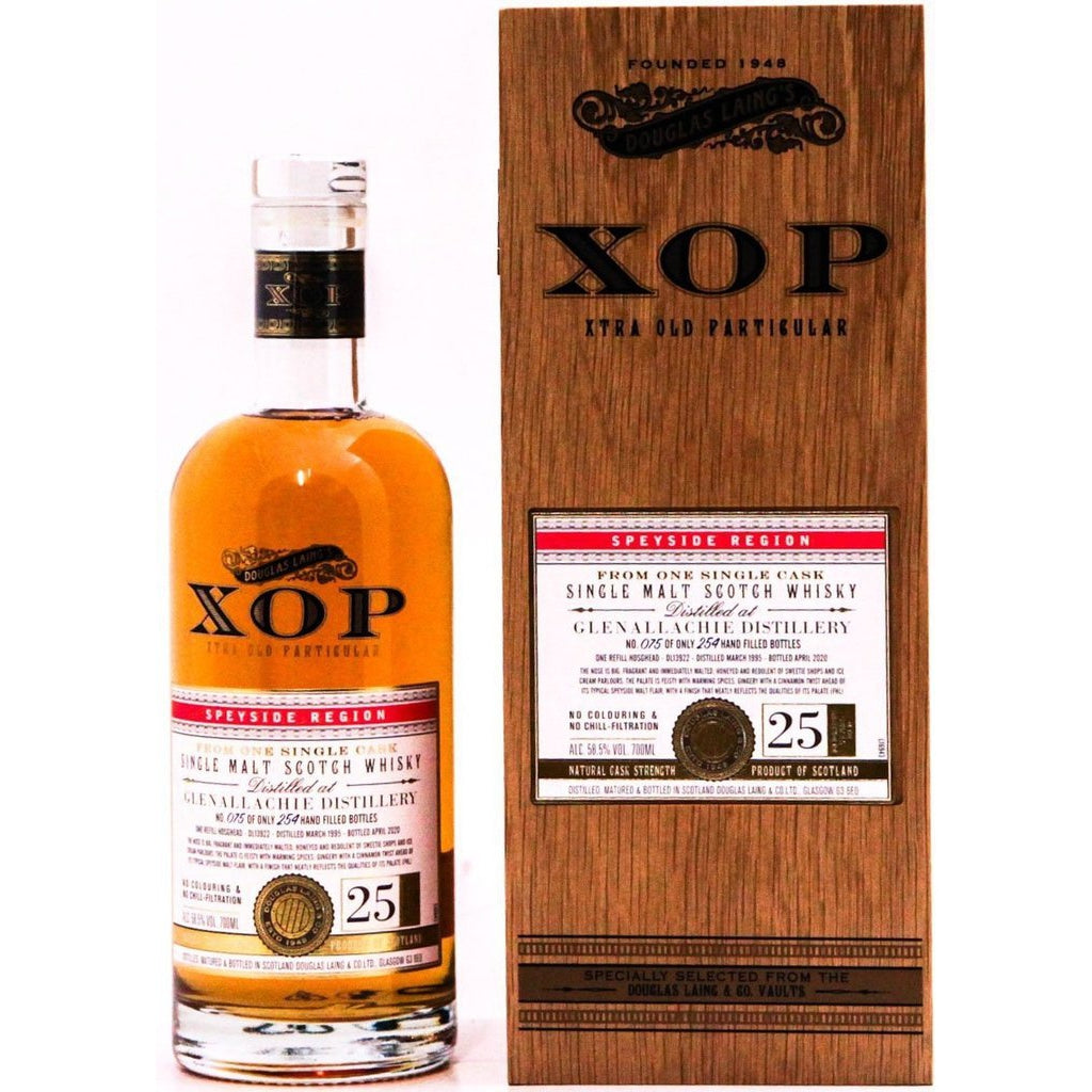 Glenallachie 1995 25 Year Old Cask 13922 Xtra Old Particular (Douglas Laing) - 70cl 58.5%