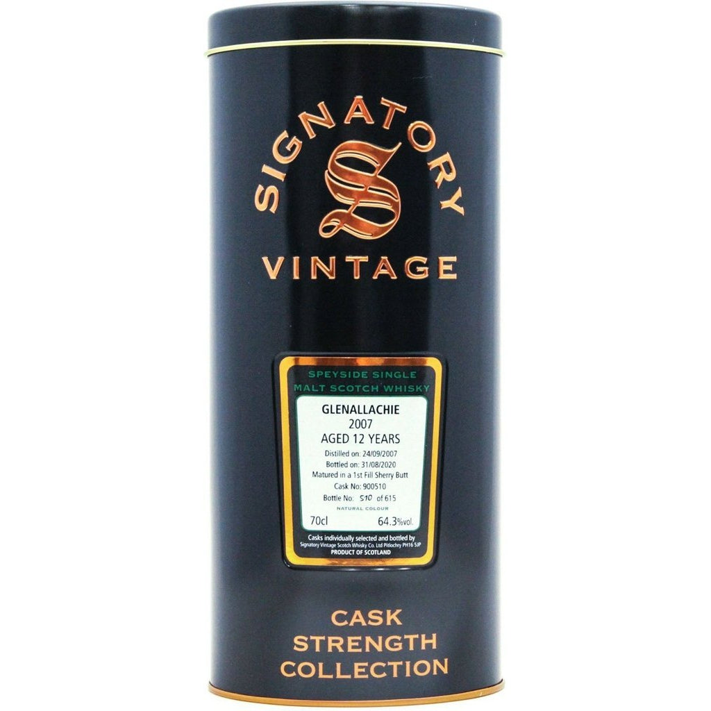 GlenAllachie 2007 12 Year Old Signatory Vintage - 70cl 64.3%