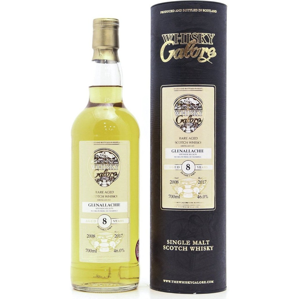 Glenallachie Whisky Galore 8 Year Old 2008 (Duncan Taylor) - 70cl 46%