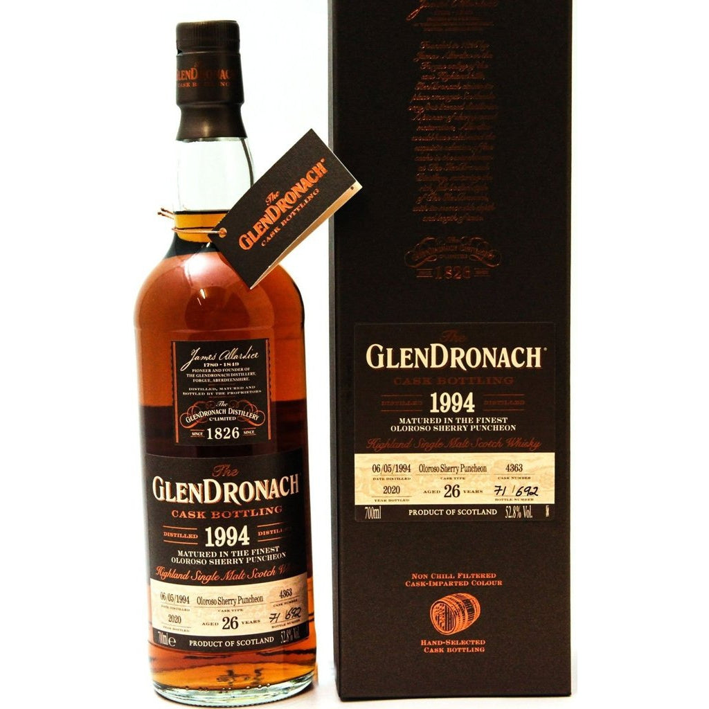 Glendronach 26 Year Old 1994 Cask 4363 - 70cl 52.8%