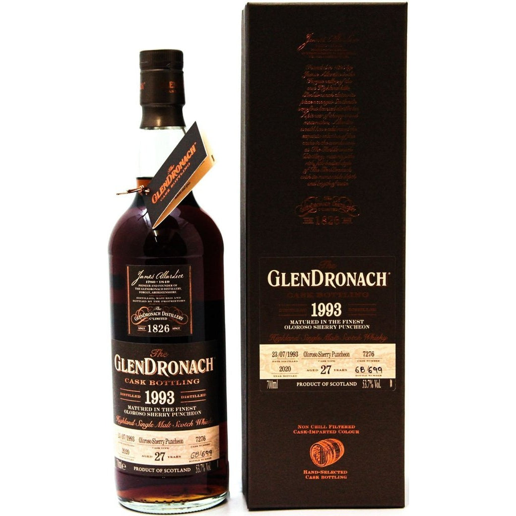 Glendronach 27 Year Old 1993 Cask 7276 - 70cl 53.7%