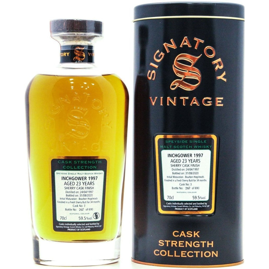 Inchgower 1997 23 Year old Sherry Finish Signatory Vintage - 70cl 59.5%