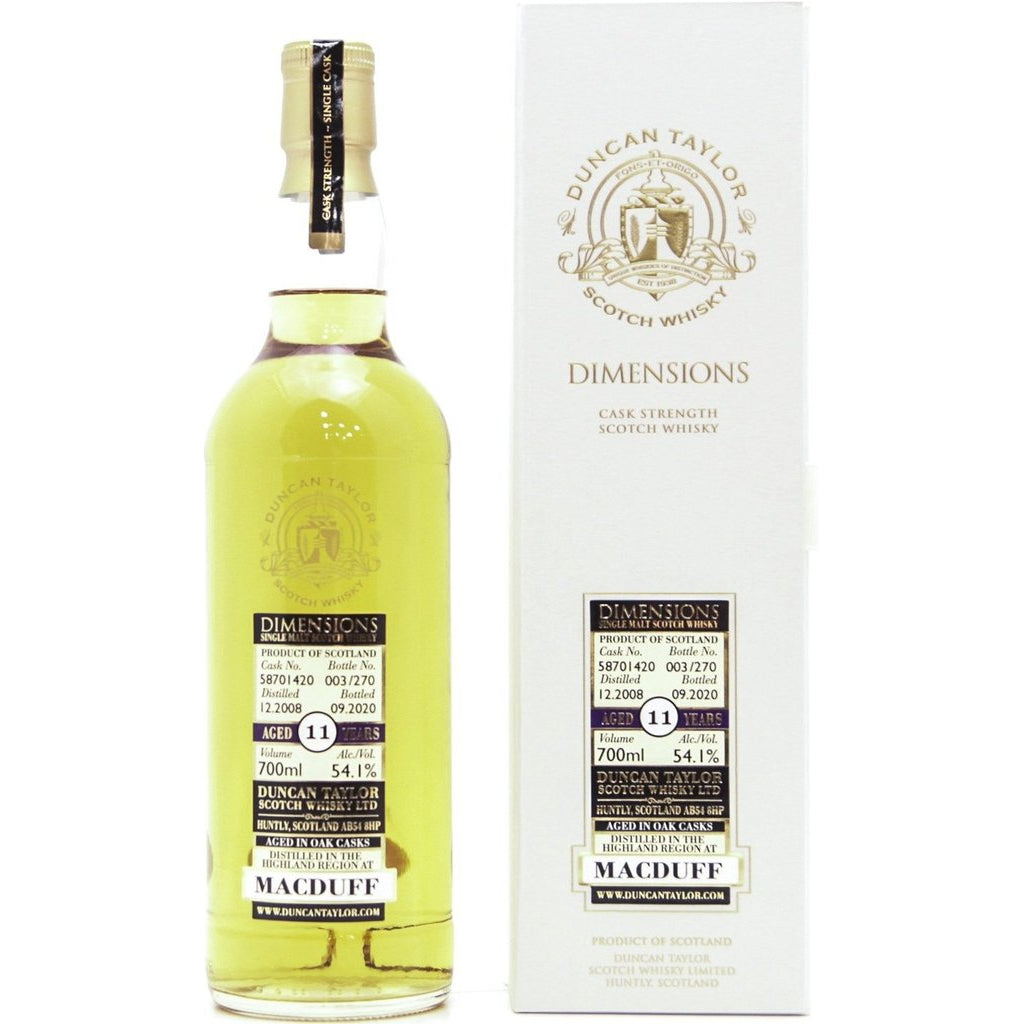 Macduff 11 year Old 2008 Cask Strength Dimensions (Duncan Taylor) - 70cl 54.1%