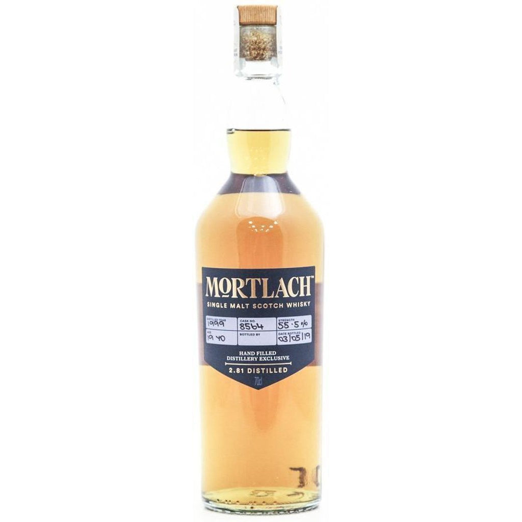 Mortlach 19 Year Old - 1999 Hand filled distillery exclusive single malt - 70cl 55.5%