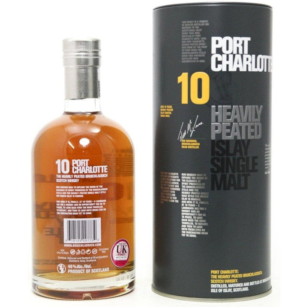 Port Charlotte Heavily Peated 10 Year Old - 2012 original bottling - 70cl 46%
