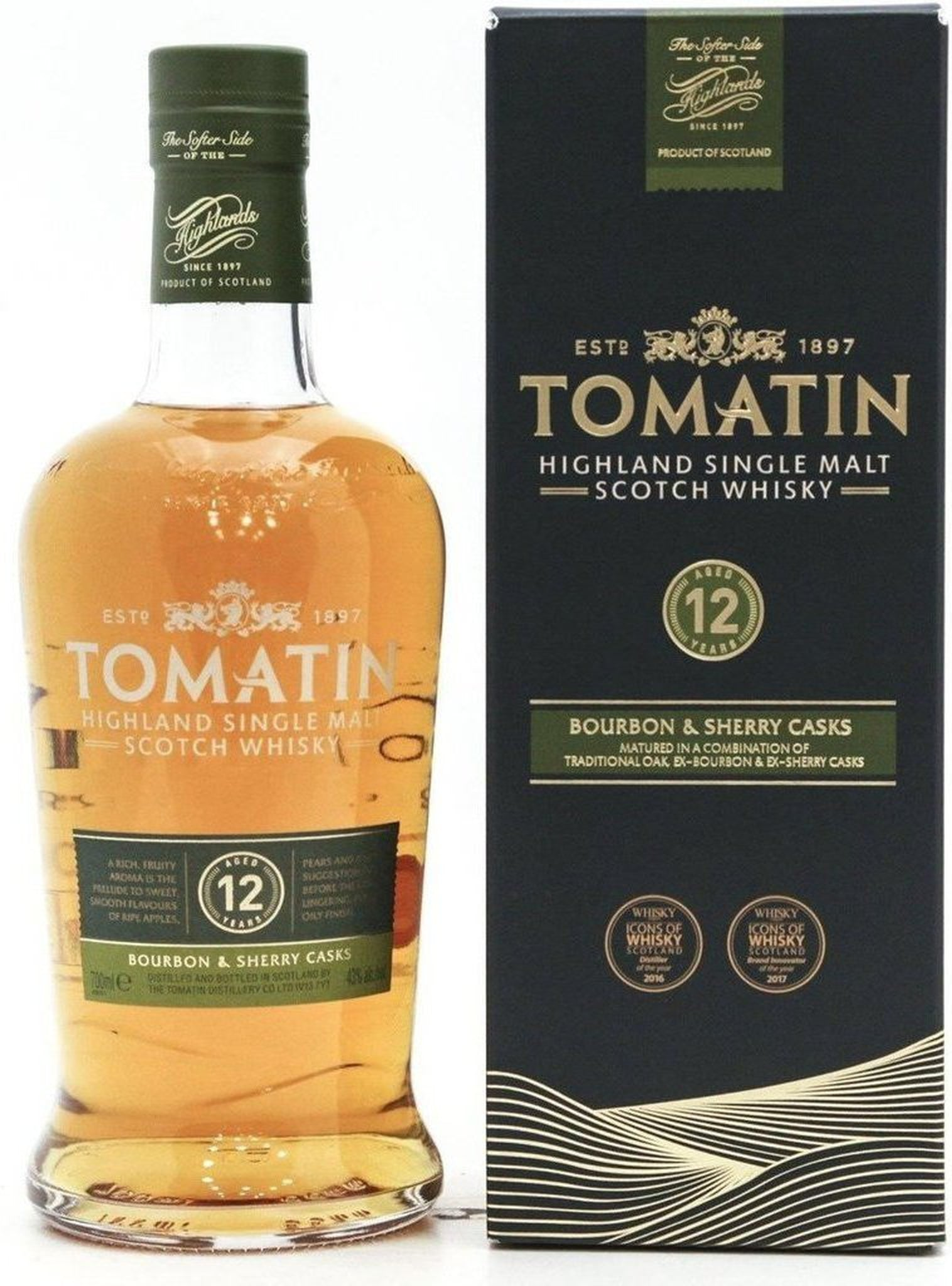 Tomatin 12 Year Old - 70cl 43%