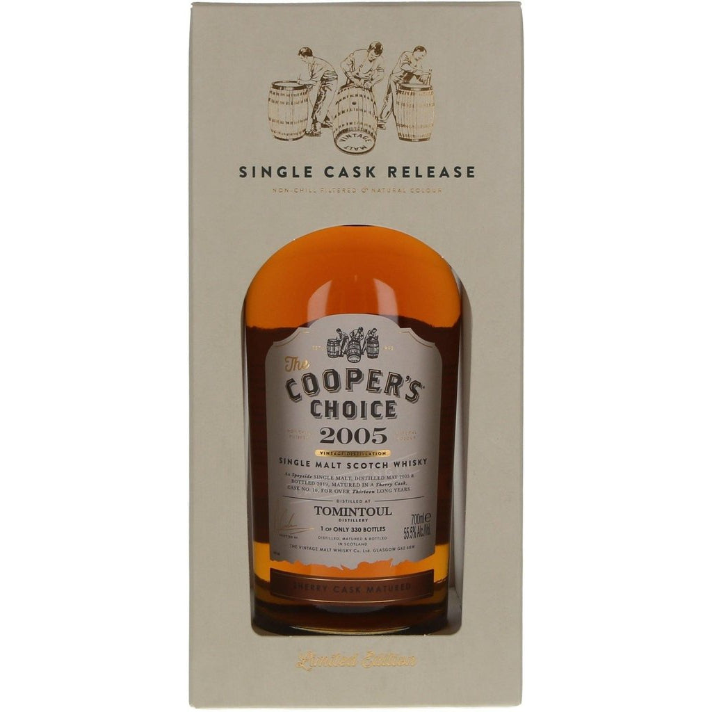 Tomintoul 13 Year Old 2005 Cask 10 The Coopers Choice - 70cl 55.5%