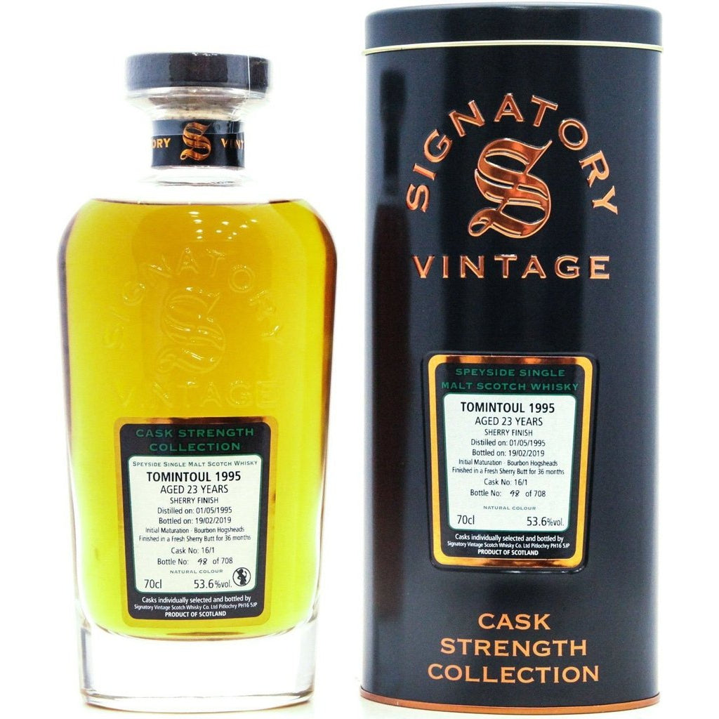 Tomintoul 1995 23 Year Old Sherry Finish Signatory Vintage - 70cl 53.6%