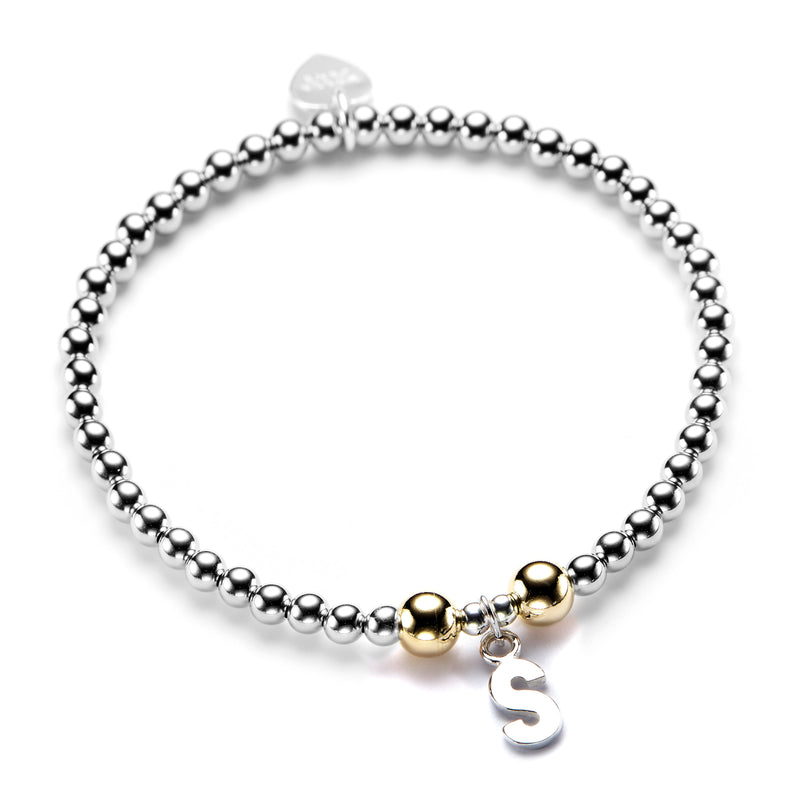 Initial Bracelet (Silver/Gold)