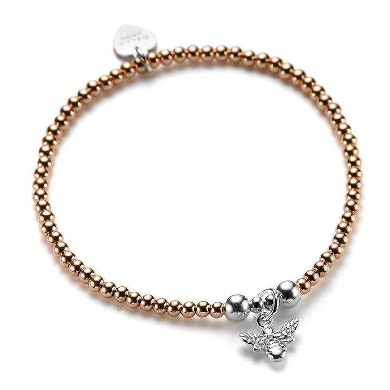 Rose Gold Bitsy Bee Bracelet